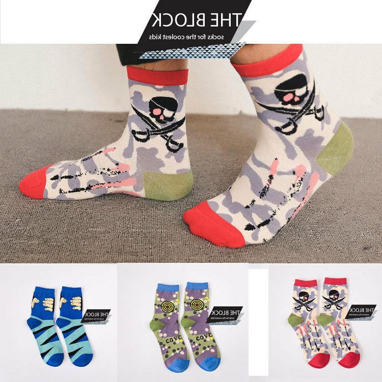 THE BLOCK Socks Men Women Fun Patterned Crew Socks Unisex 3,