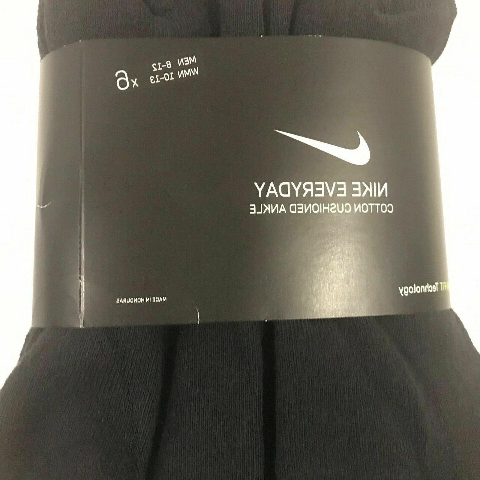 NIKE PACK BLACK COTTON ANKLE SOCKS Shoe