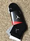 Nike Mens 3PK Jordan DriFIT Cushion Qtr White Gray BLACK SZ