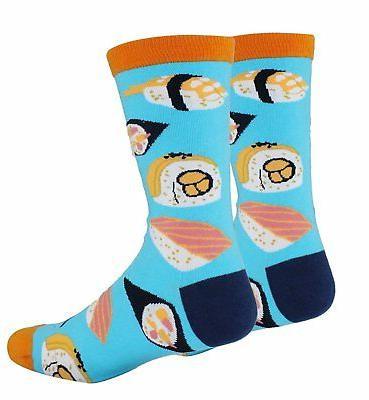 Zmart 4 Crazy Novelty Cotton Food Dress Crew Socks Gift