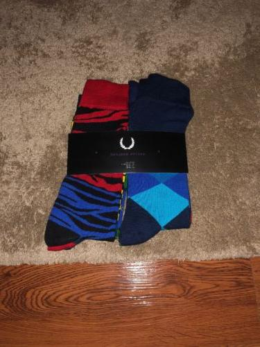 Easton Marlowe Mens 6 Pack Colorful Patterned Dress Socks, E