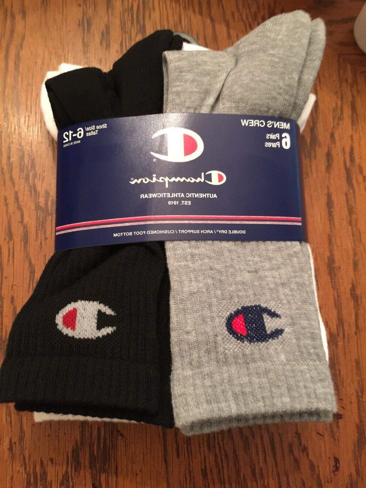 Mens Brand Crew Socks Combo 6 Size 6-12