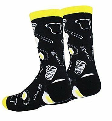 Zmart Food Crew Socks, Moisture US7-12
