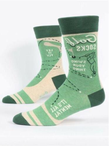 mens crew funny socks golf socks nwt