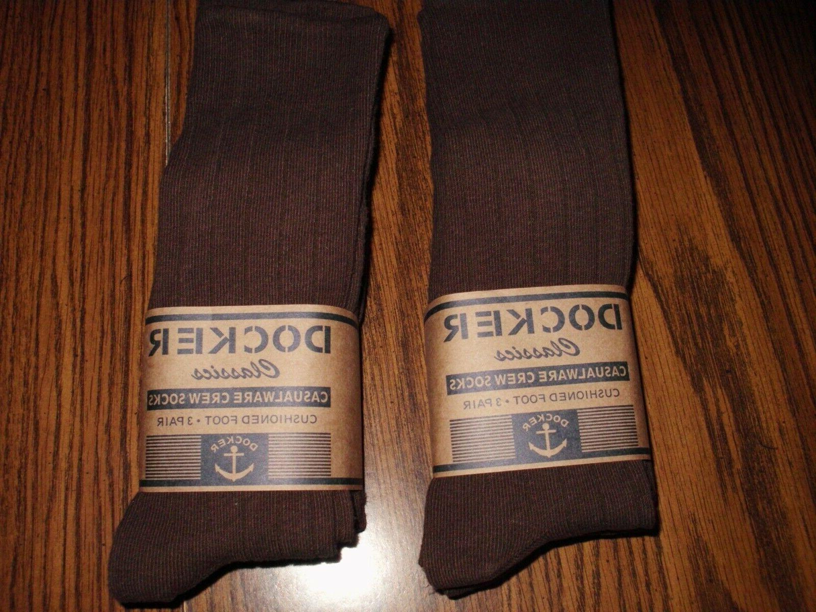 mens docker dress socks chocolate brown 6