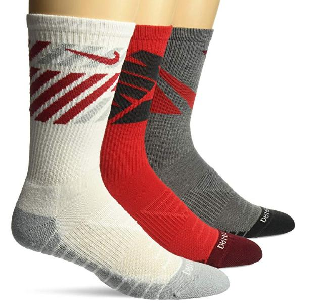 mens elite socks crew dri fit basketball