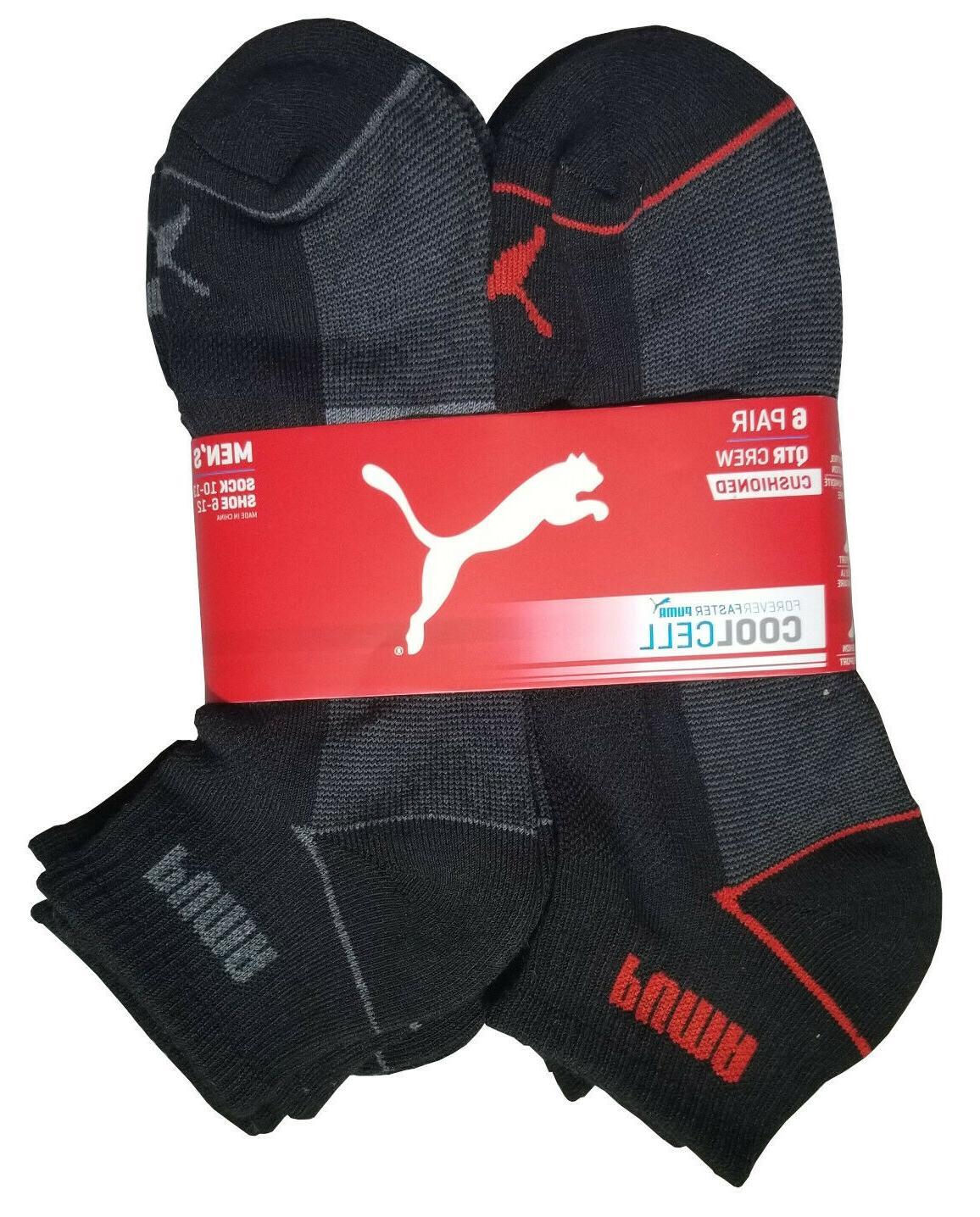 mens quarter puma socks 6 pairs socks size 10-13 6-12