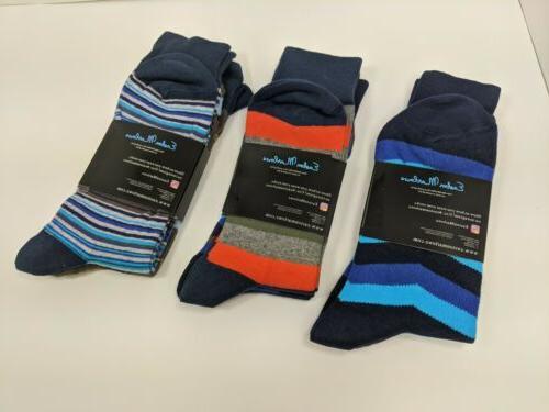 Easton Marlowe Mens 6 Colorful Patterned Socks 10-13