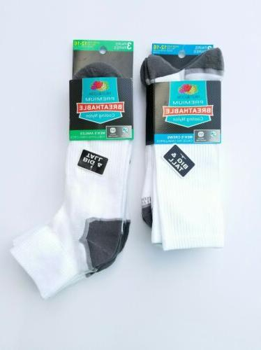 Fruit of the Loom Mens Socks Big & Tall - Breathable Cooling