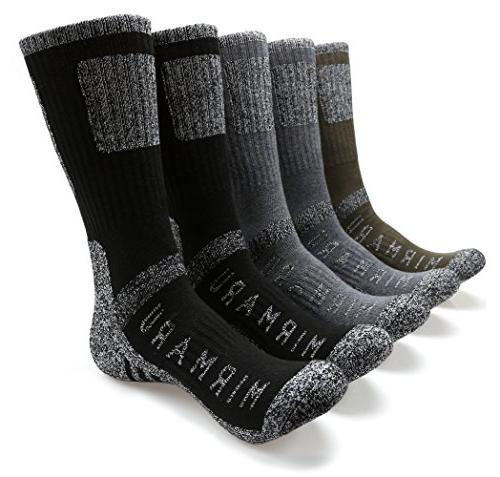 multi hiking trekking crew socks