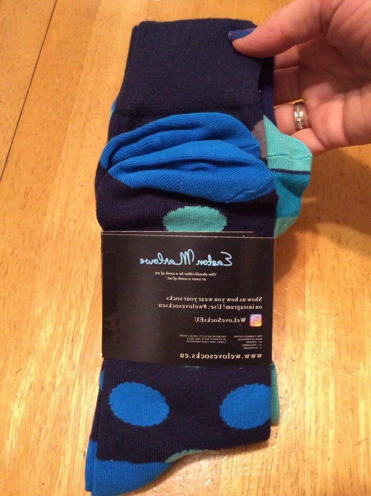 new 3 pair pack set socks blue