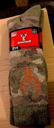 New Men's 40% Merino Wool Blend Camo Hunting Socks Camouflag