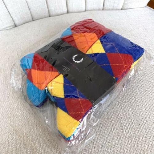 New Easton Marlowe Mens 6 Pk Colorful Dress Socks Cotton Ble