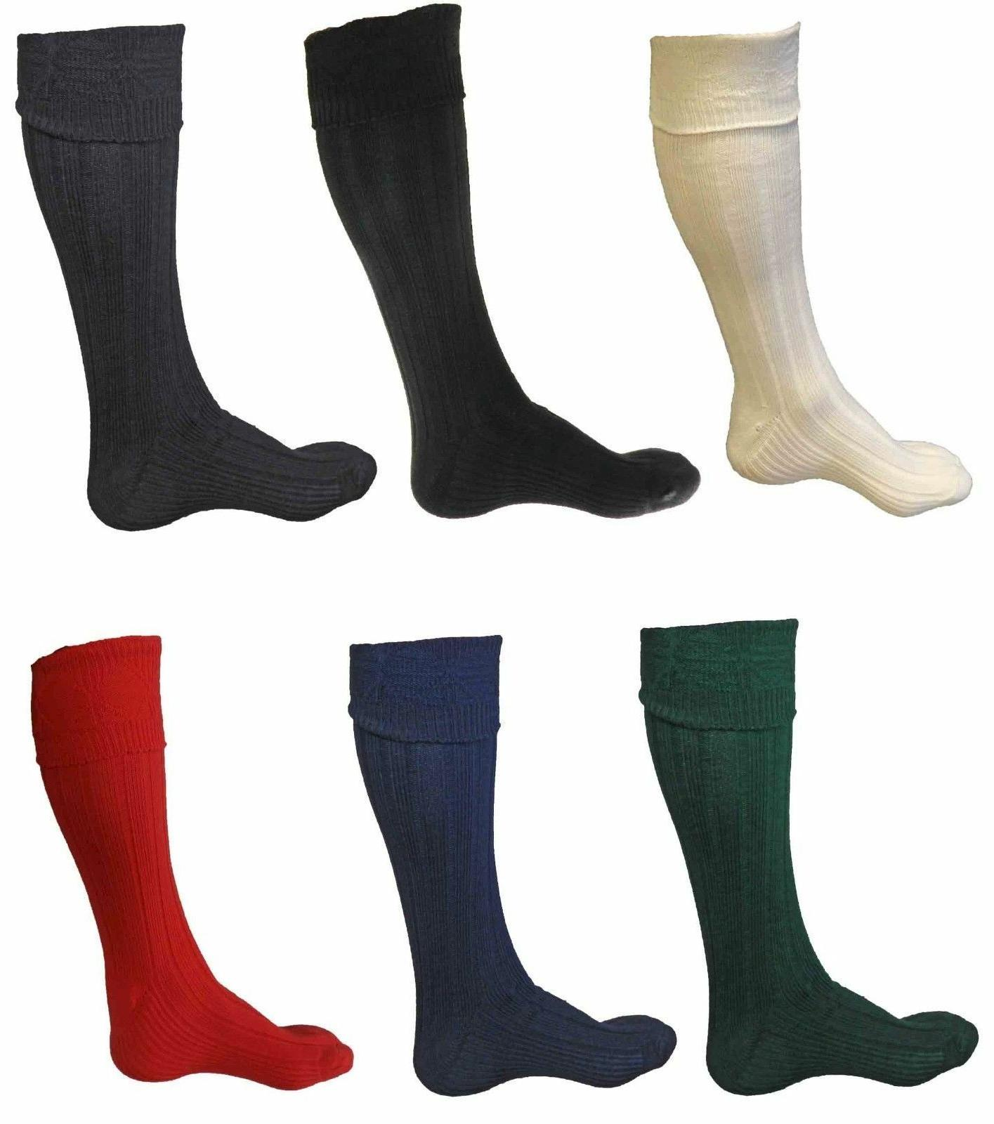 new scottish irish kilt hose socks men