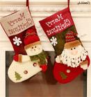 New Xmas Santa Snowman Elk Snowflake Hanging Socks Christmas