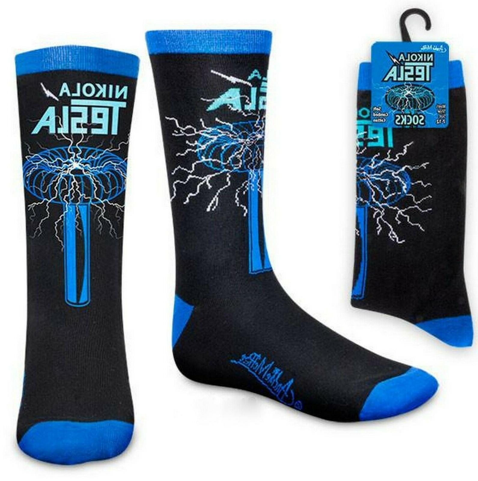 nikola tesla men socks 1 pair sz