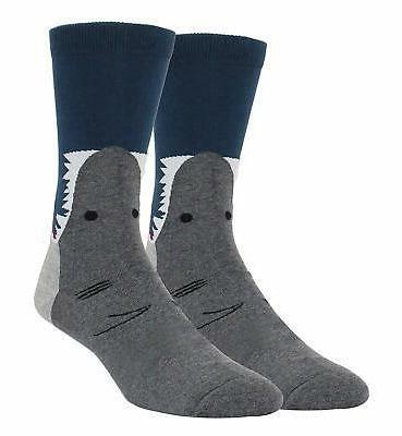 novelty crazy crew socks funny shark alien