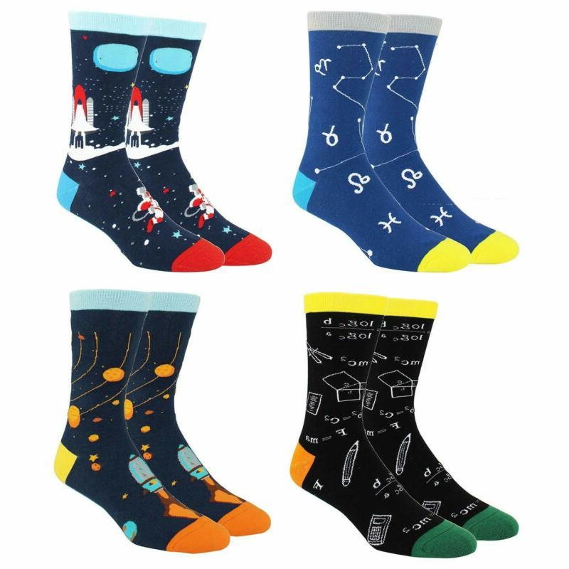 Happypop Funny Crew Socks for Colorful Cool Multicolor