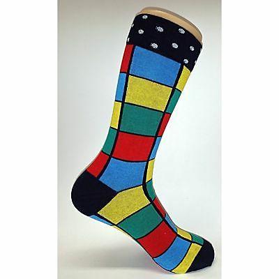 NWT Colorful Square Socks Novelty Men Multi-color Fun