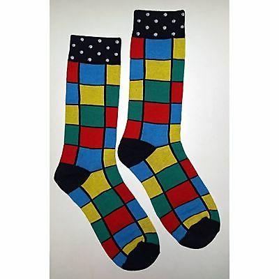 nwt colorful square dress socks novelty men