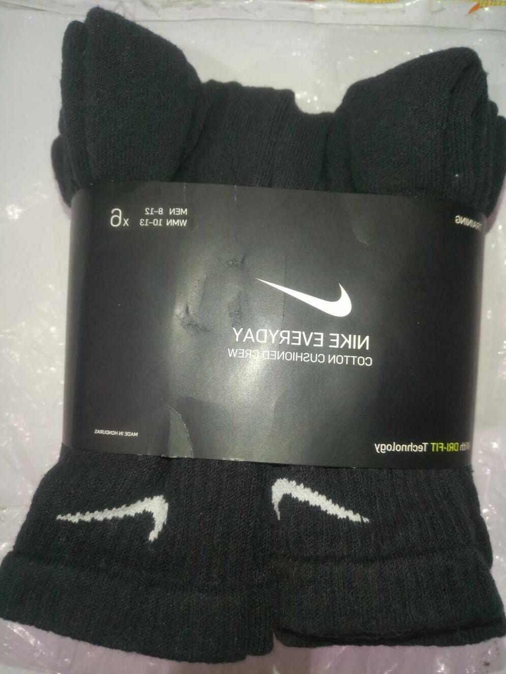 NWT Nike Everyday Men CREW Sock 3 or 6 Pair LARGE Sz 8-12 Dr