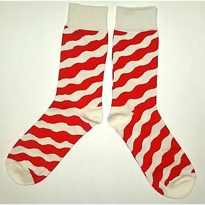 NWT Zebra Dress Socks Novelty Men Red and Sockfly