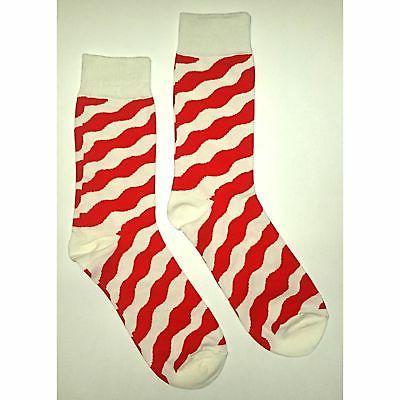 nwt red zebra dress socks novelty men