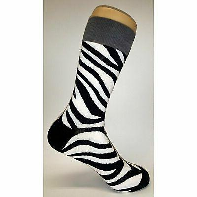 NWT Pattern Dress Socks Novelty Black Sockfly