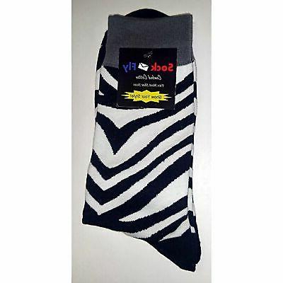 NWT Socks Men 8-12 Black Sockfly