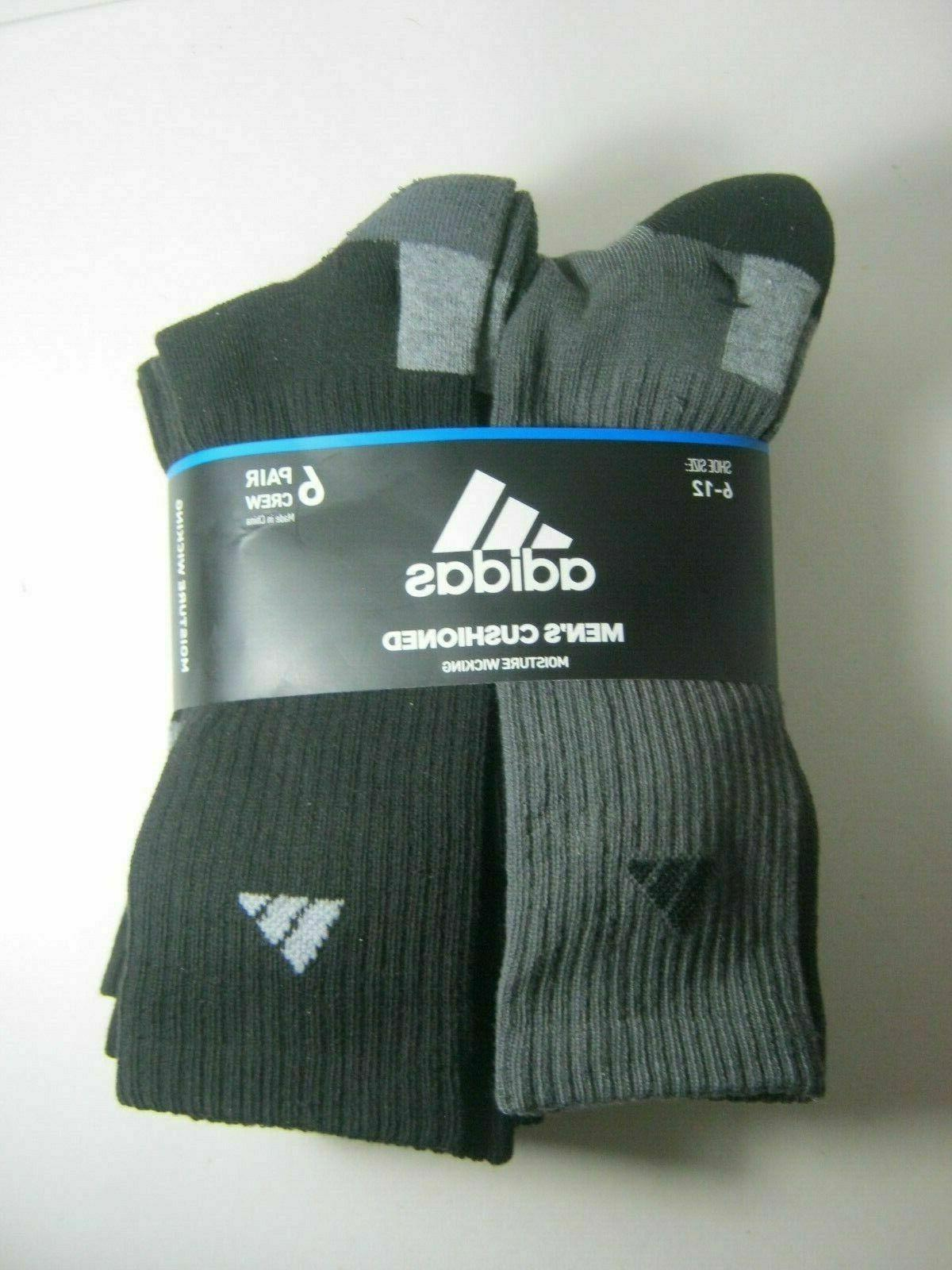 adidas Originals Men's Athletic Cushioned Crew Socks 6-Pack
