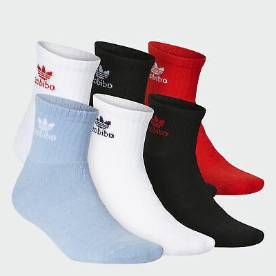 originals trefoil quarter socks 6 pairs men