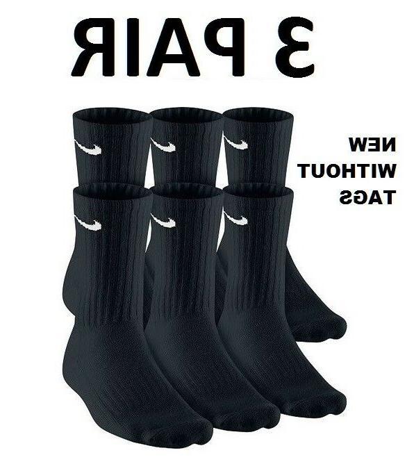 NIKE SOCKS COMBO MEN'S BLACK 3 6 8 12