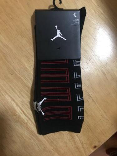 retro black red crew socks sz 8