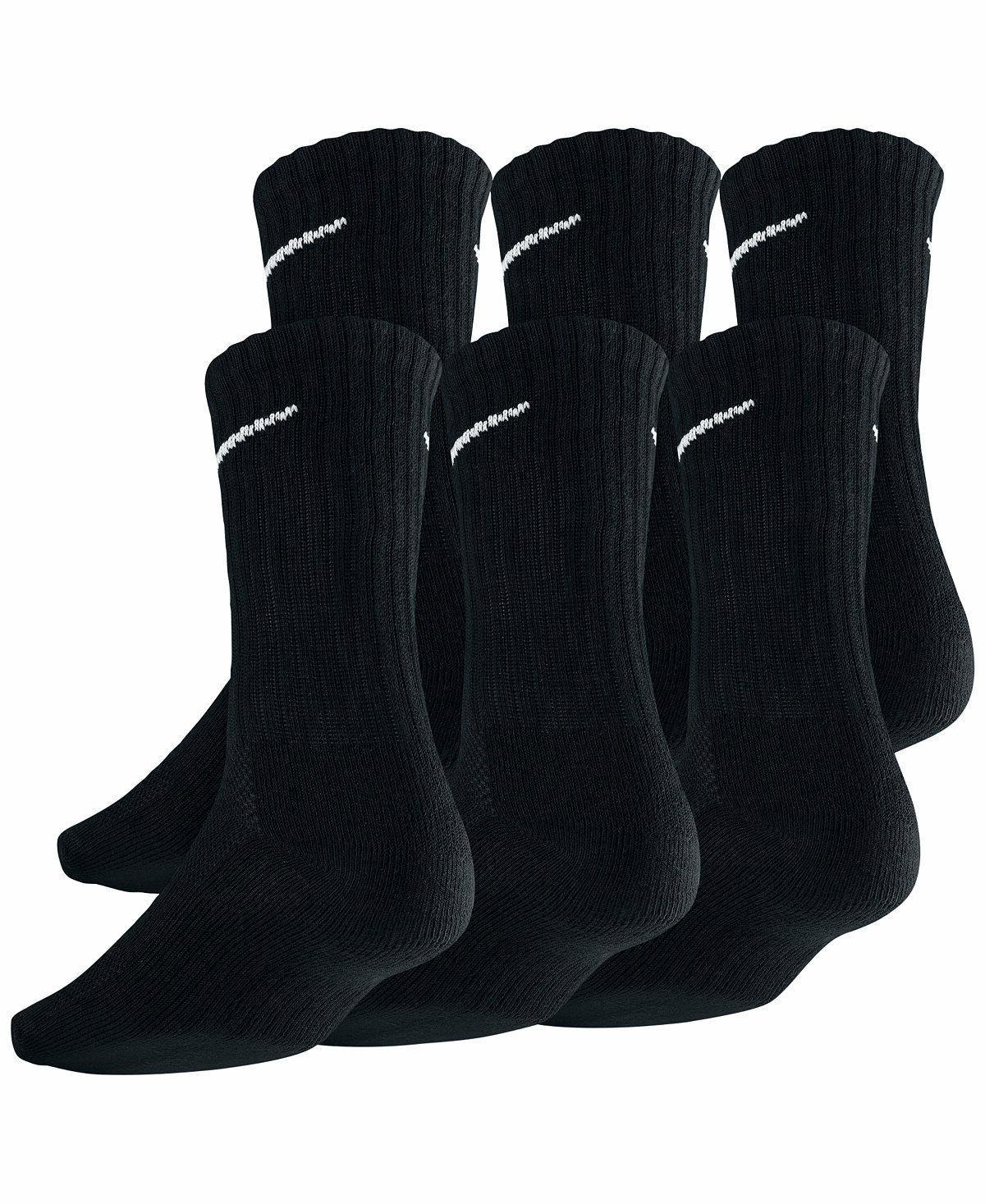 SALE Nike Fit Dry Fit Black/White Crew Socks 3 6 Large