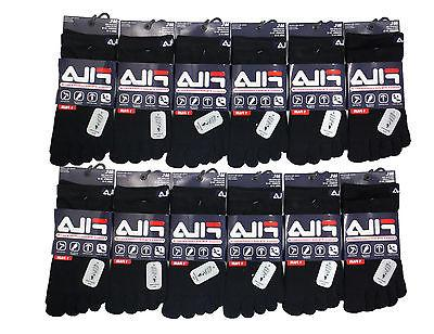 Fila Unisex High Performance 12 Pairs Black Pack