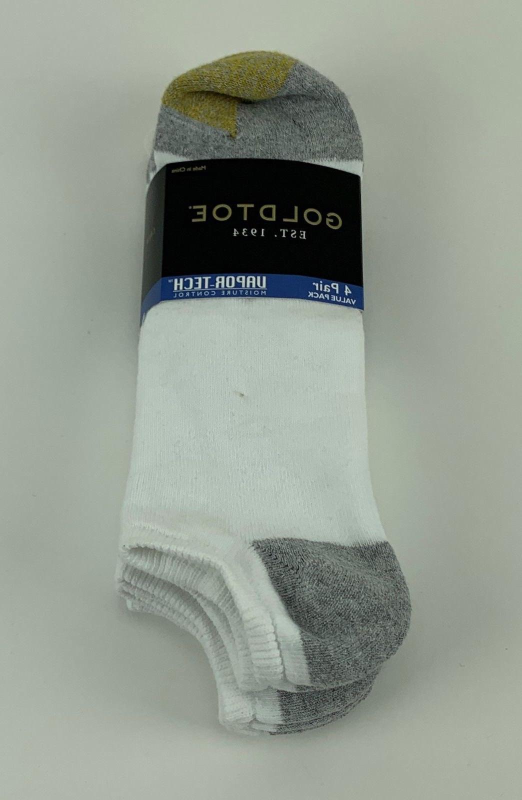 Gold Toe Men's Socks, Athletic Cushioned Liner 4 Pack