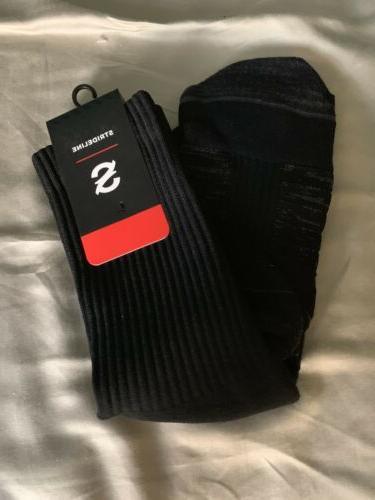 Strideline Socks Men's Long Crew Socks Black
