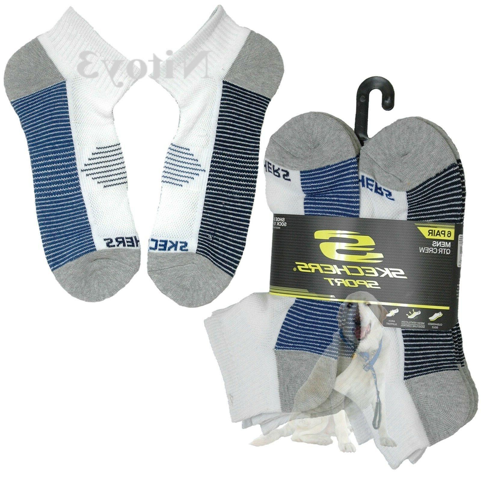 Skechers Sport Terry Ankle Socks - 6-Pack Men One Size : 6-1