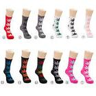 Stylish 20Styles Leaves Socks Medium Thick Sports Weeds Sock