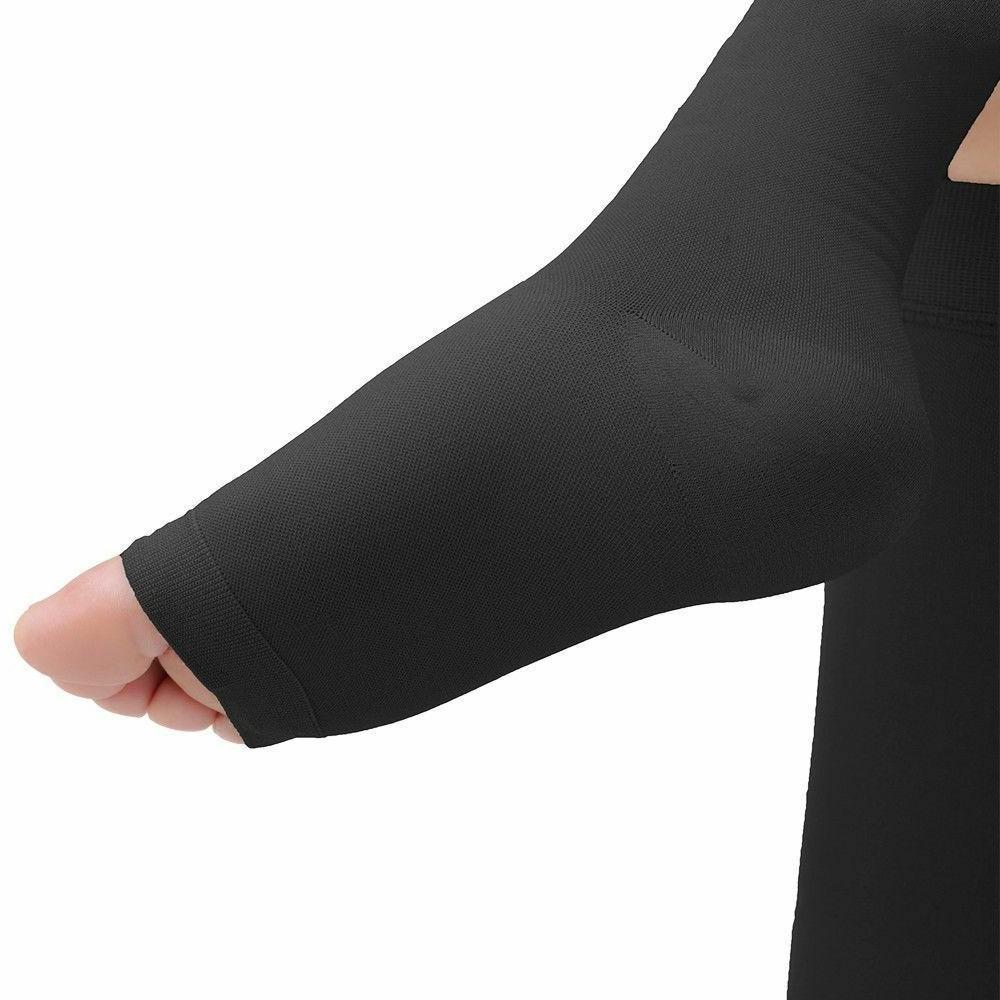 OPEN TOE Socks Support Stockings Men's Women's S~XXL