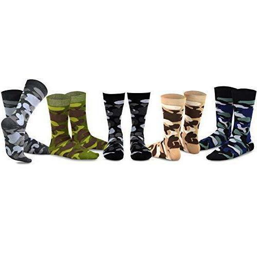 TeeHee Men's Cotton Socks Wing Striped Black