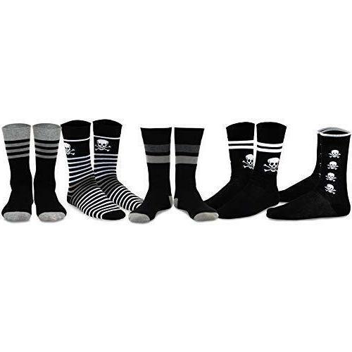 TeeHee Men's Socks Skull Black