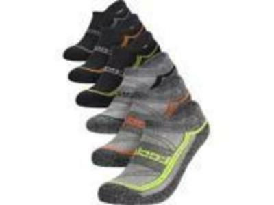 tm mzs06 low cut athletic socks black
