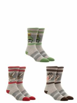License Men's Character Athletic Cushion Crew Socks 3-Pack M