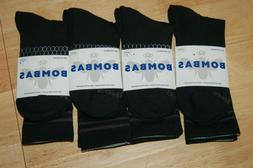LOT OF 4 Bombas Men Socks Large Black Crew Socks Brand New C