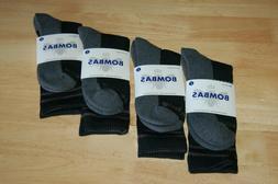 LOT OF 4 Bombas Men Socks Large Black/Gray Crew Socks Brand