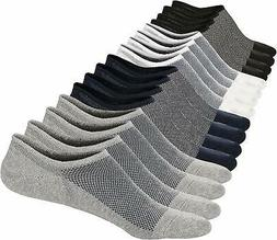 M&Z Mens Ankle Low Cut Socks Super Comfy Cotton Casual Non-S