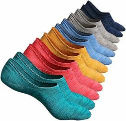 M&Z Mens No Show Low Cut Casual Socks Sneakers Non-Slide Soc