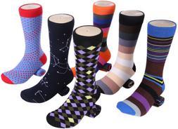 Marino Mens Dress Socks, Fun Colorful Cotton Funky Socks For