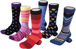 Marino Mens Dress Socks - Fun Colorful Socks for Men - Cotto